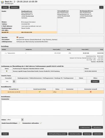 Modul zur Datenweitergabe an Versanddienstleister nach DSGVO