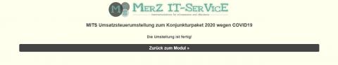 MITS Umsatzsteuerumstellung zum Konjunkturpaket 2020 wegen COVID19