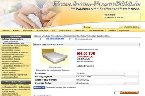 Wasserbetten-Versand2000.de