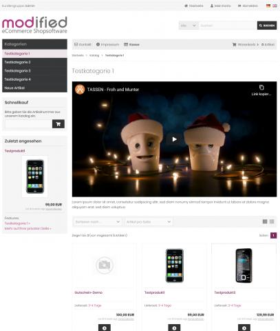 MITS Embedded Videos (YouTube/Vimeo für Produkte und Kategorien)
