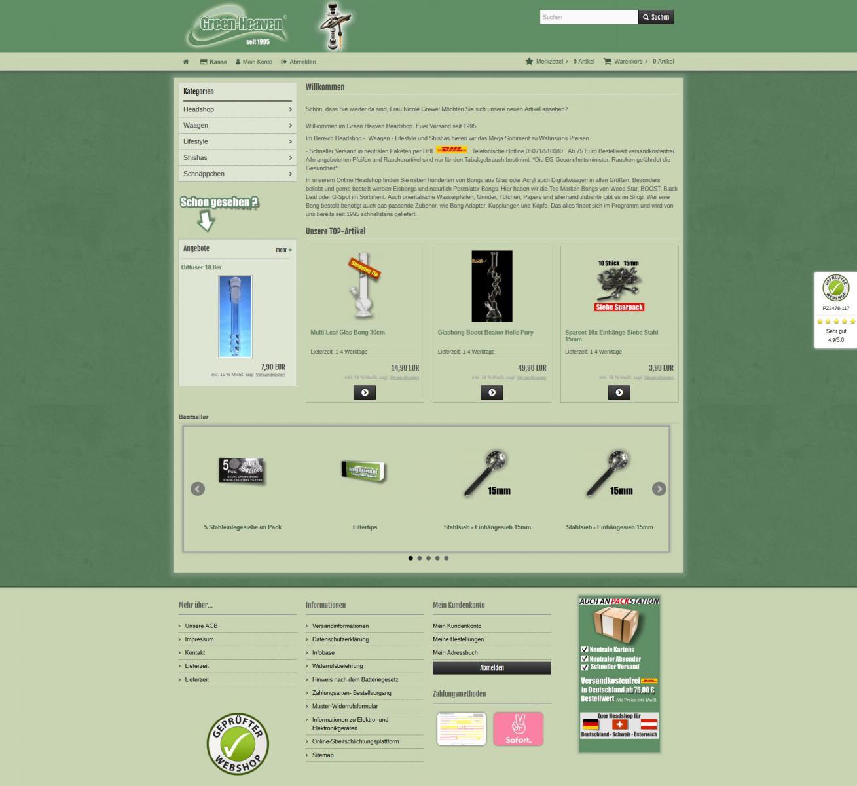 Relaunch des Onlineshops Green-Heaven