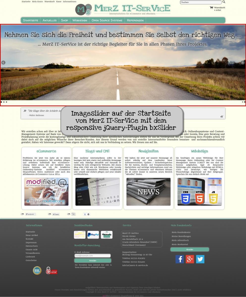 Installation Imageslider v1.5