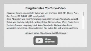 MITS DSGVO Video-Embed für Shopversion 2.x